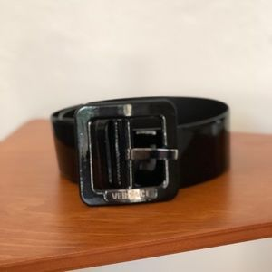 AUTHENTIC Versace patent leather belt